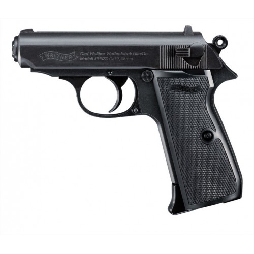 UMAREX WALTHER PISTOLA PPK/S NERA CO2 -7,5J CAL. 4,5 C.N. 86 e C.N. 275