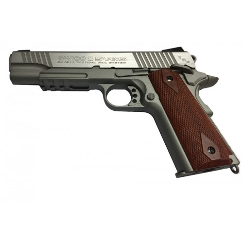 SWISS ARMS PISTOLA P1911 TACTICAL RAIL SYSTEM CO2 -7,5J CAL 4,5 C.N. 757