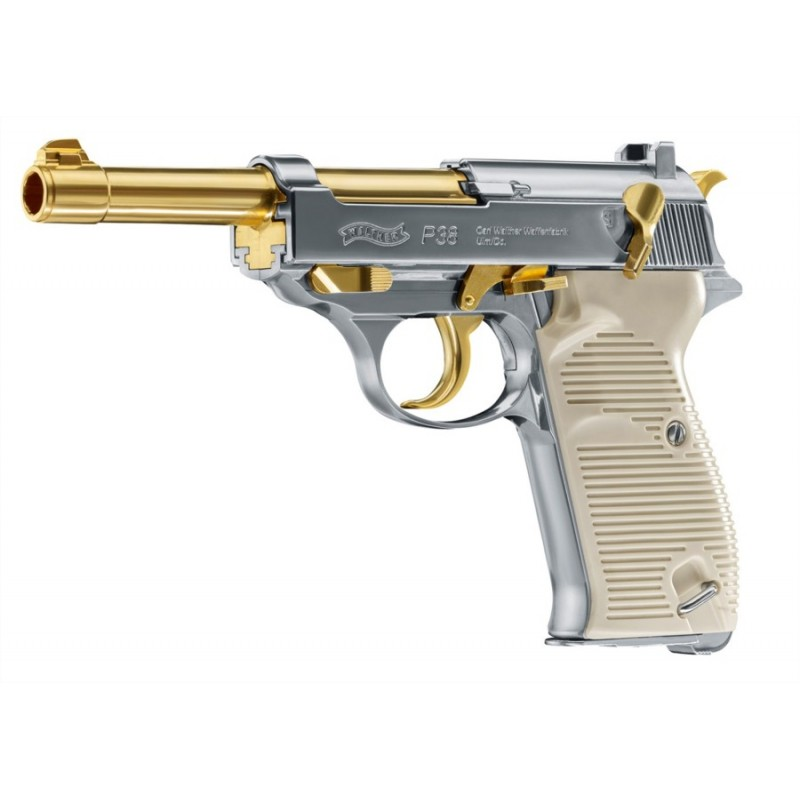 UMAREX WALTHER PISTOLA P38 CO2 GOLD -7,5J CAL. 4,5 C.N. 434