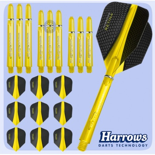 COMBO KIT 3 SETS FRECCETTE HARROWS RETINA DART ASTINE E ALETTE