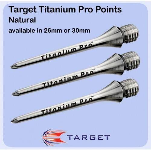 PUNTE FRECCETTE TARGET TITANIUM PRO 26mm *Conf. da 3pz*