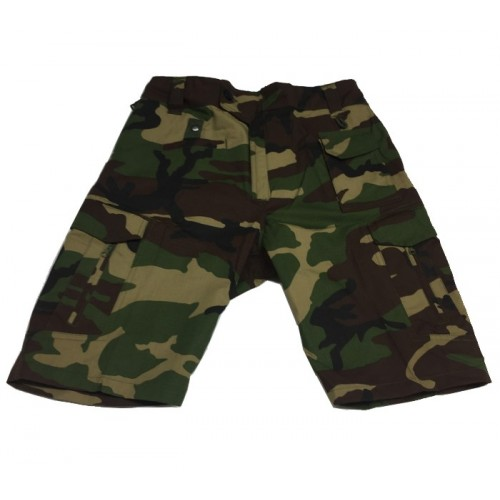 DEFCON5 PANTALONI TACTICAL SHORT POLYCOTTON RIPSTOP WOODLAND