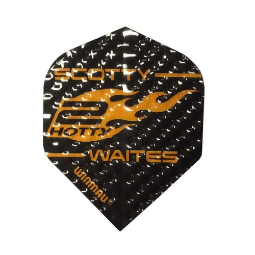 ALETTE FRECCETTE WINMAU EMBOSSED PRO PLAYER 75 MICRON STRONG STD SCOTT WAITES