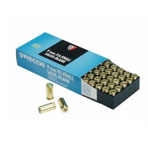FIOCCHI CARTUCCE 9mm A SALVE PER ARMI BLANK 1.4S *Conf. da 50pz*