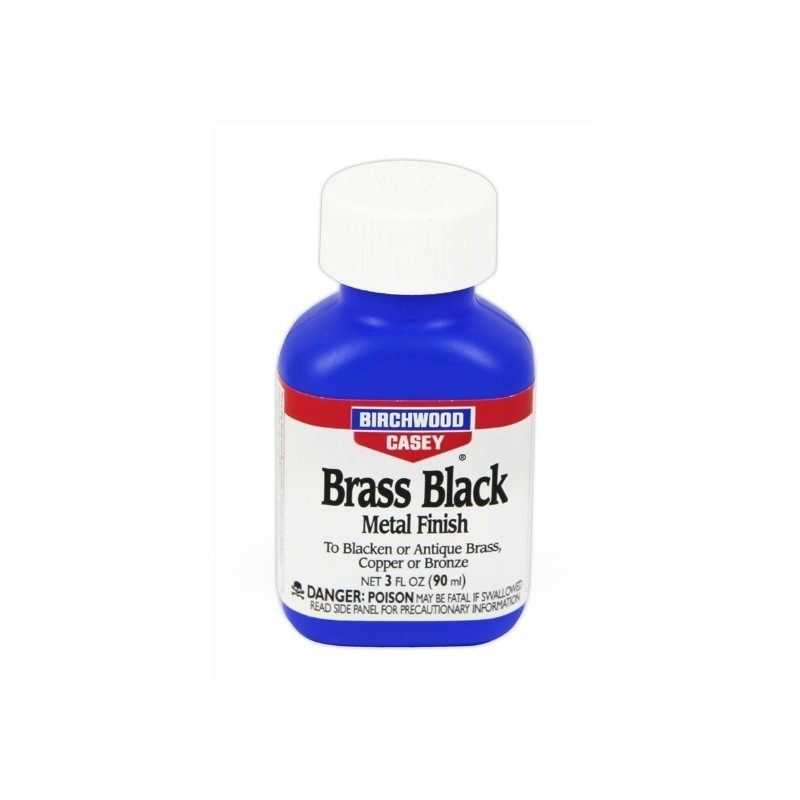 BIRCHWOOD BRASS BLACK METAL FINISH BRUNITORE PER BRONZO/OTTONE/RAME 3oz