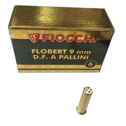 FIOCCHI CARTUCCE FLOBERT 9mm D.F. A PALLINI n-¦ 6 *Conf. da 50pz* (@)