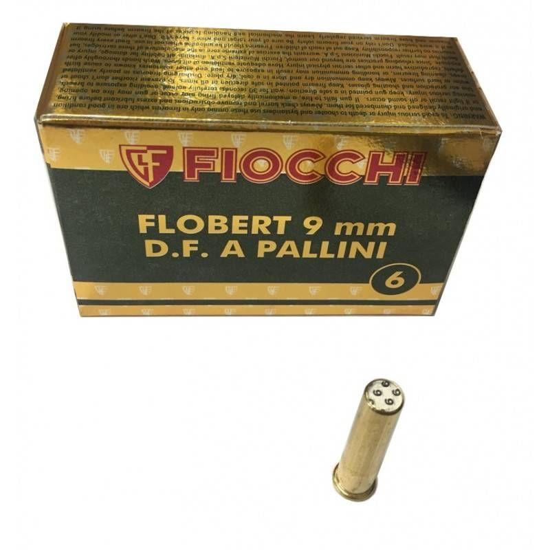 FIOCCHI CARTUCCE FLOBERT 9mm D.F. A PALLINI n° 6 *Conf. da 50pz*