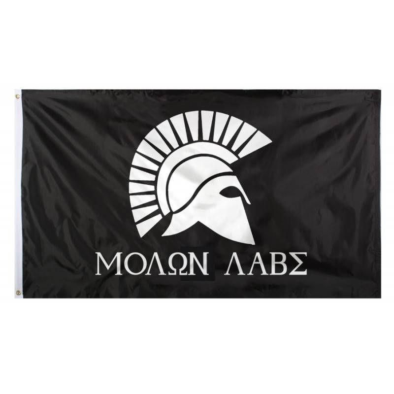 USA BANDIERA MOLON LABE 7,60 x 12,70 cm