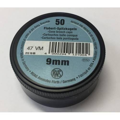 RWS CARTUCCE FLOBERT 9mm CONICAL *Conf. da 50pz*