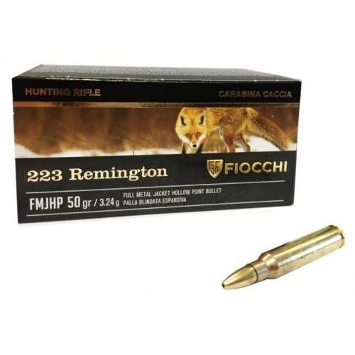 FIOCCHI CARTUCCE CAL. 223 REM FMJHP 50grs *Conf. da 50pz*