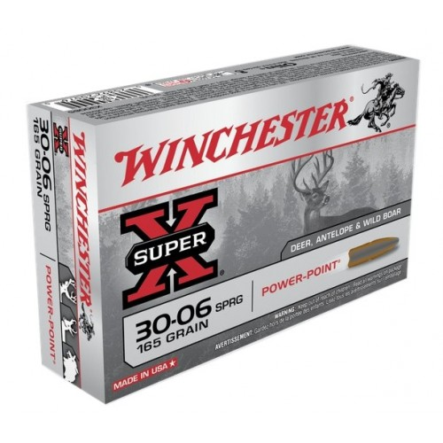 WINCHESTER CARTUCCE POWER POINT CAL. 30-06 SPR 165grs *Conf. da 20pz*