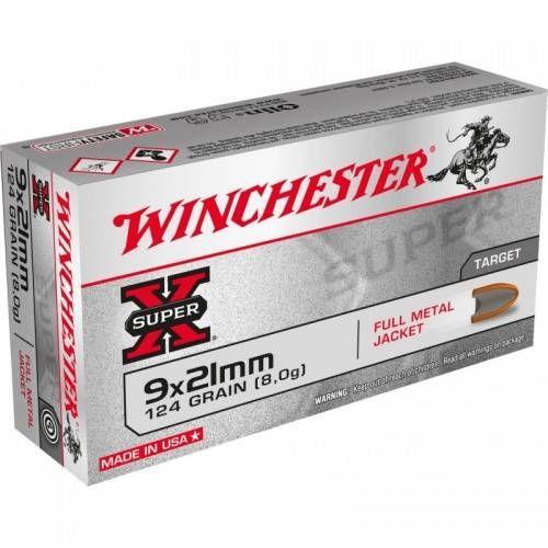 WINCHESTER CARTUCCE FMJ CAL. 9x21 124grs *Conf. da 50pz*