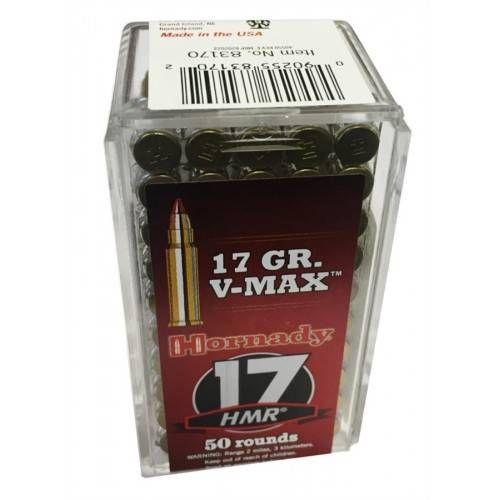 HORNADY CARTUCCE CAL. 17 HMR V-MAX 17grs *Conf. 50pz* (@)