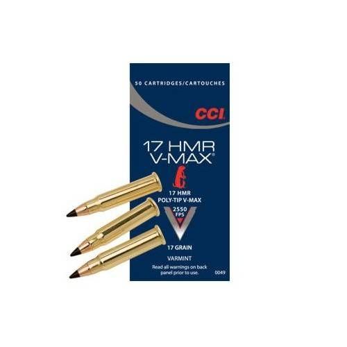 CCI CARTUCCE CAL. 17 HMR V-MAX 17grs *Conf. 50pz* (@)