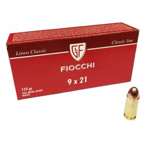FIOCCHI CARTUCCE CAL. 9x21 IMI FMJ 123grs *Conf. da 50pz*