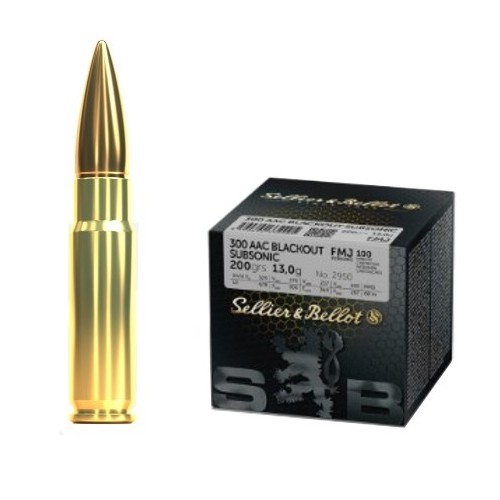 SELLIER & BELLOT CARTUCCE CAL. 300AAC FMJ 200grs SUBSONIC *Conf. da 100pz* (@)