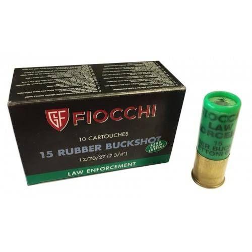 FIOCCHI CARTUCCE RUBBER BUCK CAL. 12 *Conf. da 10pz*