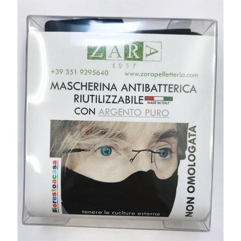 MASCHERINA ZARA RIUTILIZZABILE CON ARGENTO PURO ANTIBATTERICO
