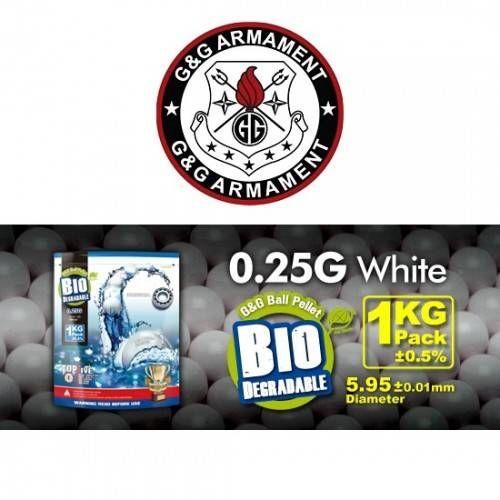 G&G PALLINI BIODEGRADABILI 0.25G BIANCHI 4000 BB (1KG)