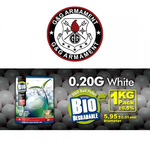 G&G PALLINI BIODEGRADABILI 0.20g BIANCHI 5000 BB (1KG)