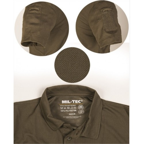 MILTEC MAGLIA POLO TACTICAL QUICK DRY URBAN GREY