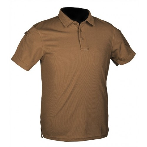MILTEC MAGLIA POLO TACTICAL QUICK DRY DARK COYOTE