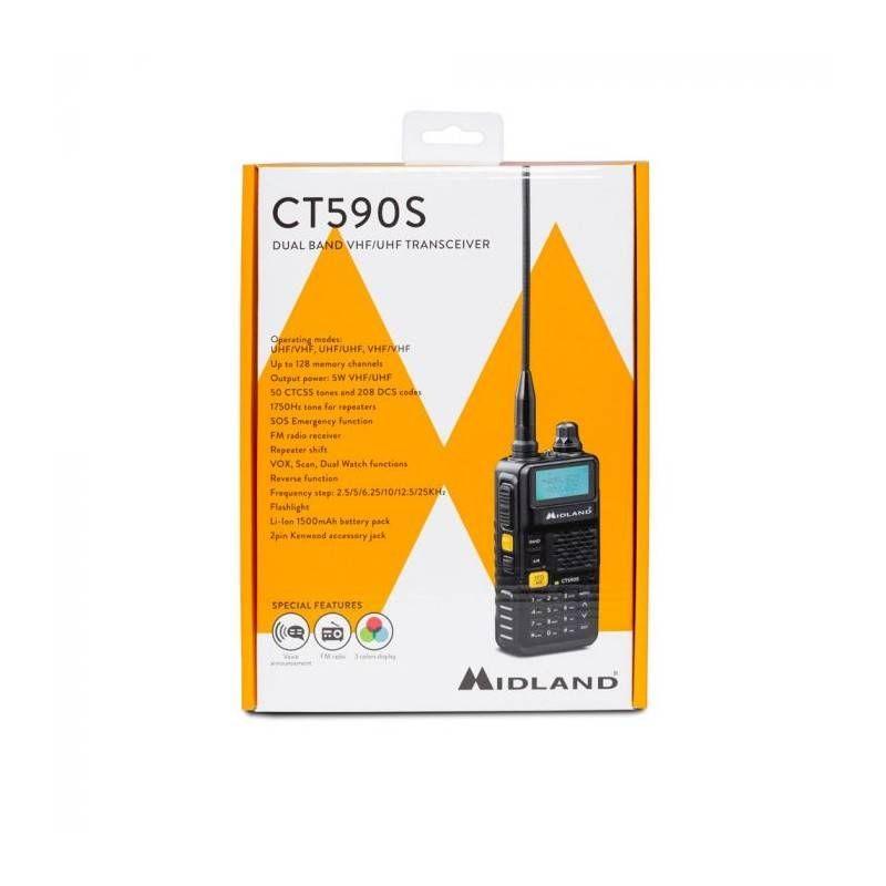 MIDLAND RICETRASMETTITORE CT590S DUAL BAND VHF/UHF