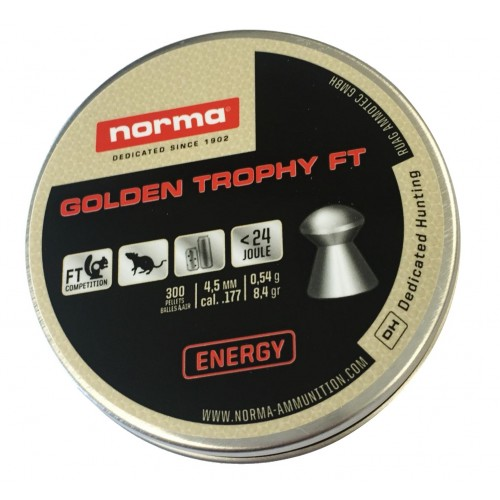NORMA DIABOLO GOLDEN TROTHY FT 4.5mm 0.54g *Conf. da 300pz*
