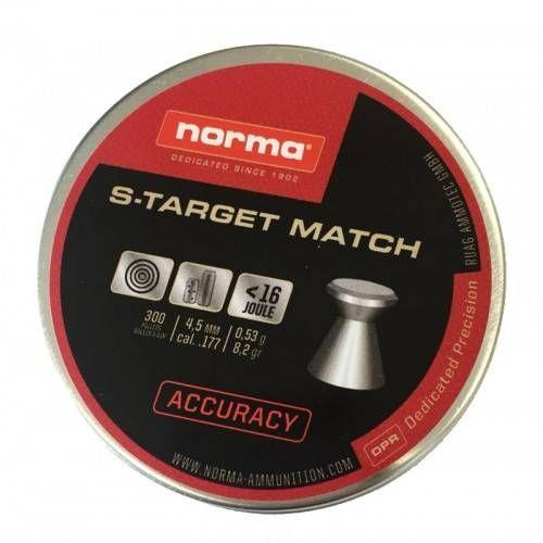 NORMA DIABOLO S-TARGET MATCH 4.5mm 0.53g *Conf. da 300pz*
