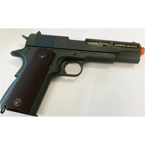 CYBERGUN PISTOLA SOFTAIR CO2 COLT 1911 100th ANNIVERSARY SATINATO SCARRELLANTE
