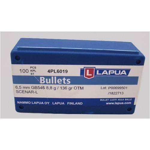 LAPUA PALLE CAL. 6,5 SCENAR 136grs *Conf. da 100 pz*