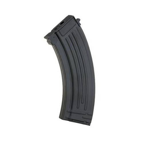 BATTLEAXE CARICATORE SOFTAIR AK-AKM MID-CAP 120 BBS MONOFILARE IN METALLO