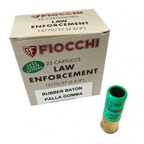 FIOCCHI CARTUCCE RUBBER BATON CAL. 12 *Conf. da 25pz*