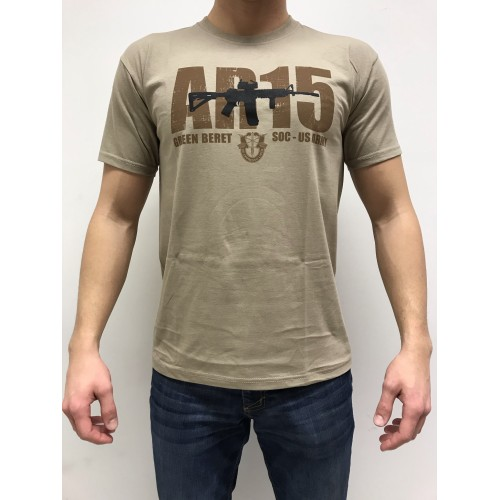 DEATH HOUSE T-SHIRT AR15 TAN
