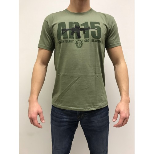 DEATH HOUSE T-SHIRT AR15 OLIVE