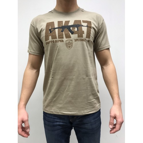 DEATH HOUSE T-SHIRT AK TAN