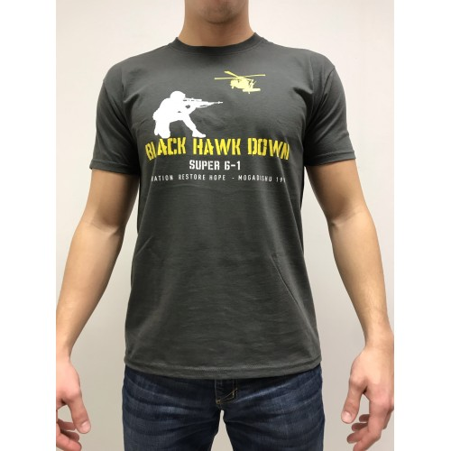 DEATH HOUSE T-SHIRT BLACK HAWK DOWN ANTRACITE