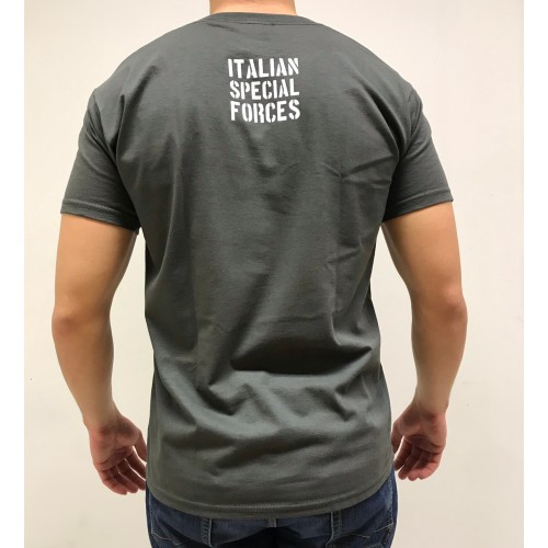 DEATH HOUSE T-SHIRT ITALIAN SPECIAL FORCE ANTRACITE
