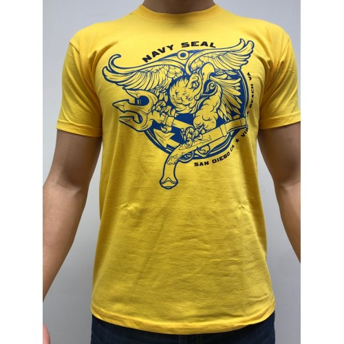 DEATH HOUSE T-SHIRT NAVY SEALS GIALLO