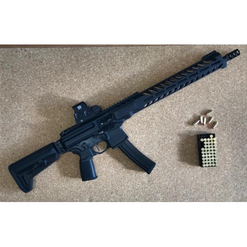 """*KIT OFFERTA* SIG SAUER CARABINA MPX PCC 16"""" CAL 9x19 + EOTECH HOLOGRAFIC SYSTEM XPS2-2"""