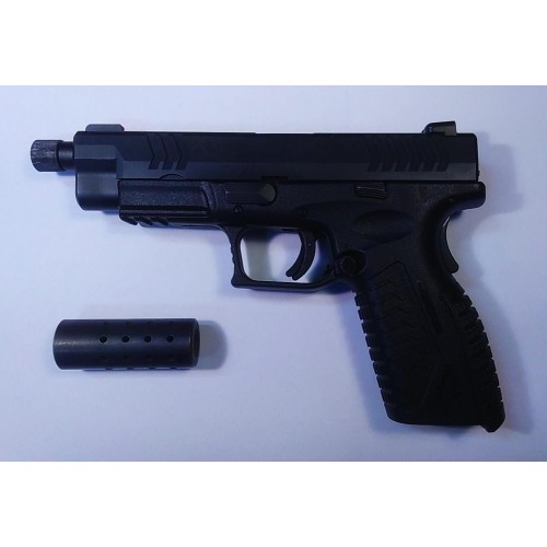 "*USATO* HS PRODUKT PISTOLA XDM-9 5,25"" SPECIAL OPS NERA CAL.9X21"