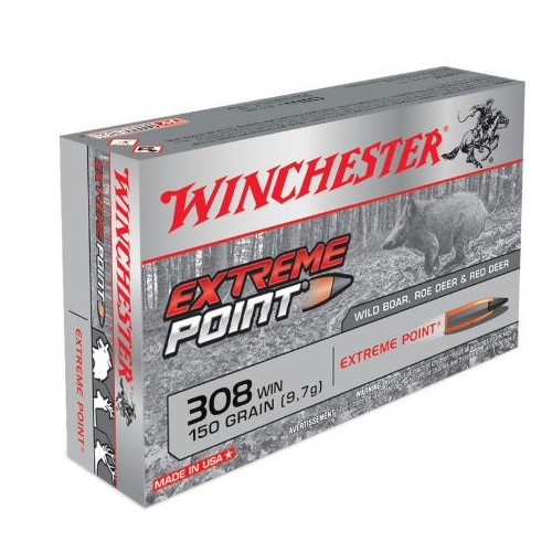 WINCHESTER CARTUCCE EXTREME POINT CAL. 308 WIN 150grs *Conf. da 20pz*