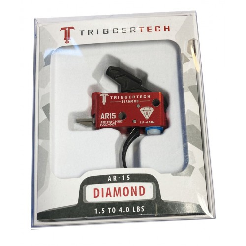 TRIGGERTECH GRUPPO SCATTO PER AR15 DIAMOND CURVED RED