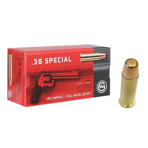 GECO CARTUCCE CAL. 38SPL FMJ FN 158grs *Conf. da 50pz*