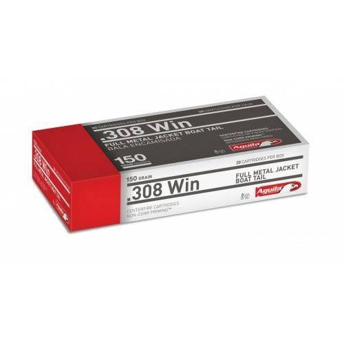 AGUILA CARTUCCE CAL 308WIN FMJ 150grs *Conf. da 20 pz*