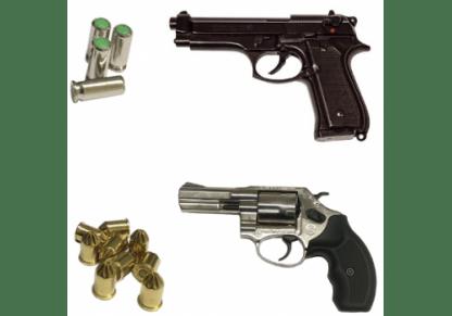 Pistole a salve munizioni accessori
